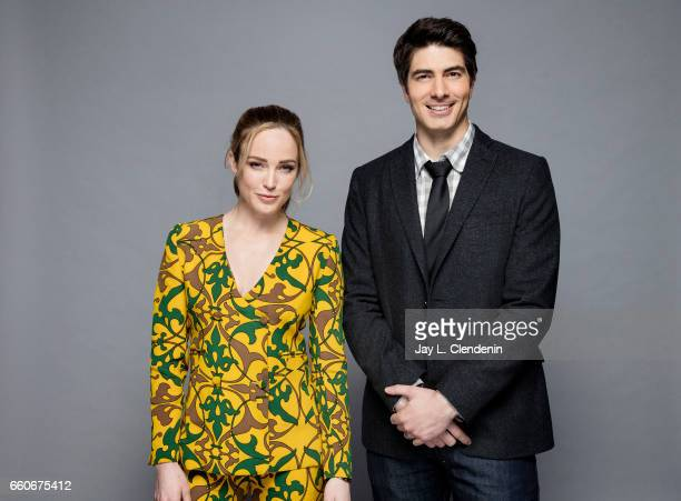 Actress Caity Lotz and actor Brandon Routh from CW's 'DC's Legends of Tomorrow' are photographed for Los Angeles Times on March 18 2017 in Los...
