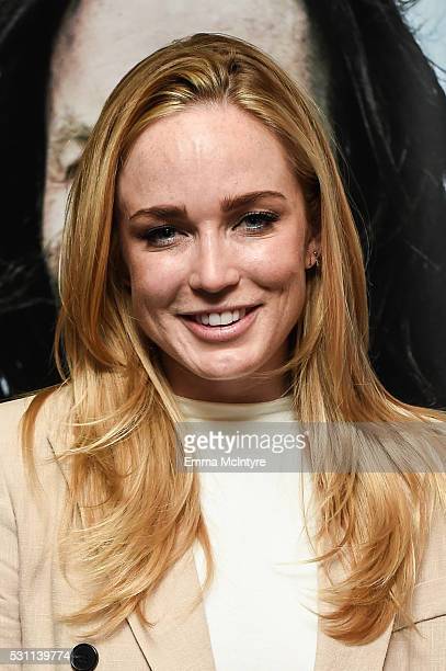 Actress Caity Lotz arrives at a screening of Broad Green Pictures' 'Last Days In The Desert' at Laemmle Royal Theatre on May 12 2016 in Santa Monica...