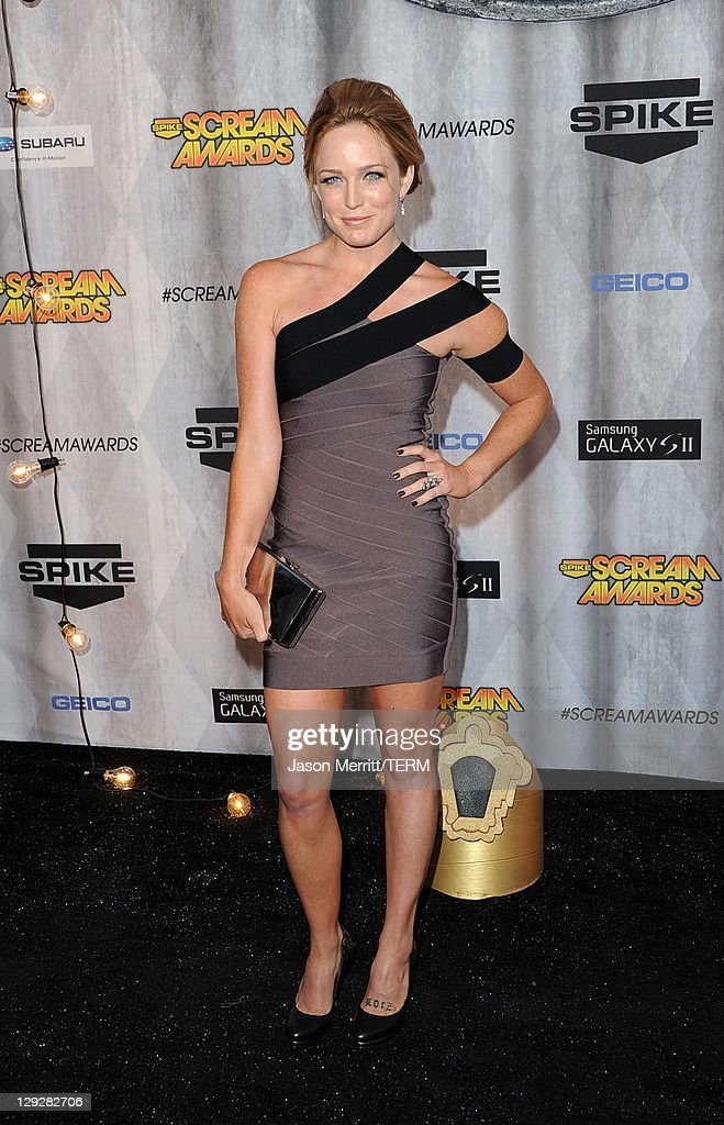 Actress Caity Lotz arrives at Spike TV's 'SCREAM 2011' awards held at Universal Studios on October 15 2011 in Universal City California