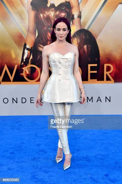 Actress Caity Lotz arrives at the Premiere Of Warner Bros Pictures' 'Wonder Woman' at the Pantages Theatre on May 25 2017 in Hollywood California
