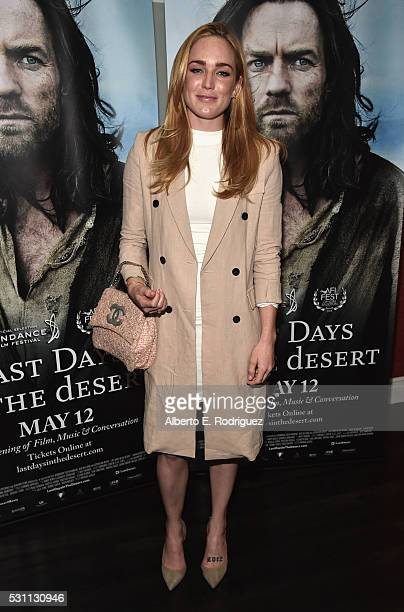 Actress Caity Lotz attends a VIP screening of Broad Green Pictures' 'Last Days In The Desert' on May 12 2016 in Los Angeles California