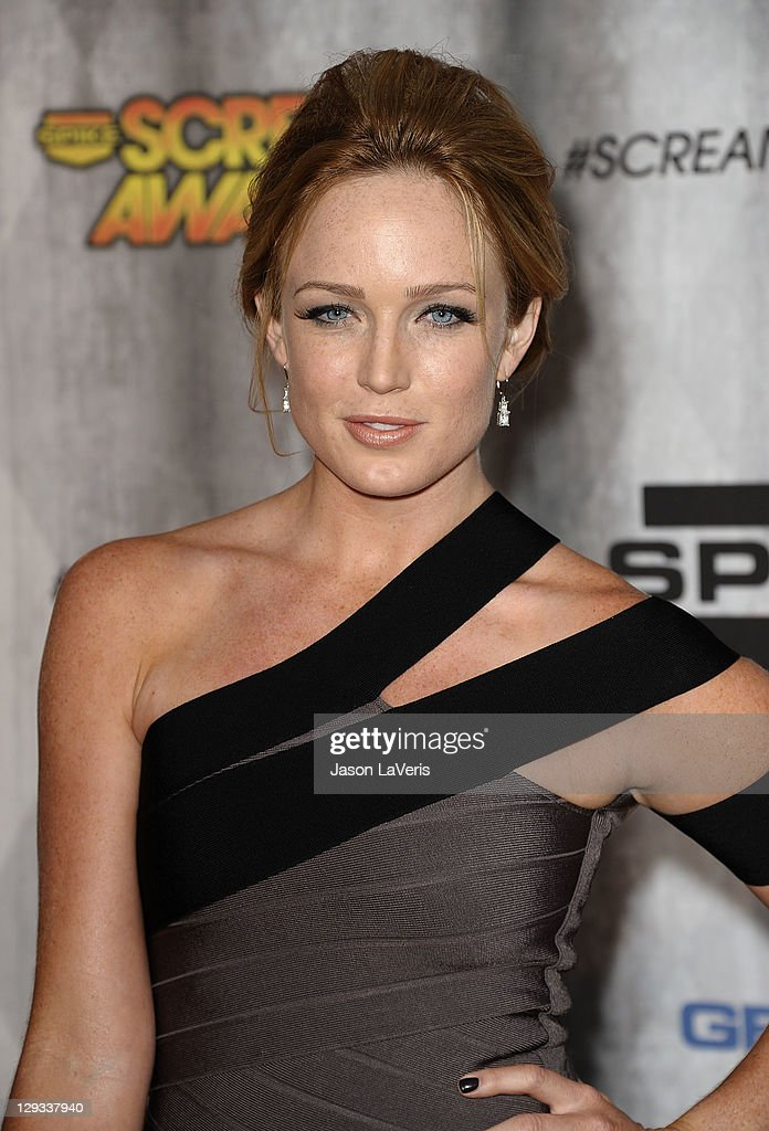 Actress Caity Lotz attends Spike TV's 2011 Scream Awards at Gibson Amphitheatre on October 15, 2011 in Universal City, California.