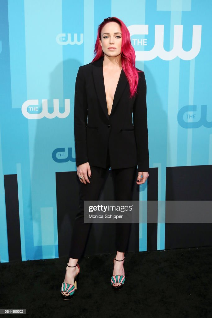 Actress Caity Lotz attends the 2017 CW Upfront on May 18, 2017 in New York City.