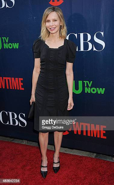 Actress Calista Flockhart arrives at the CBS CW And Showtime 2015 Summer TCA Party at Pacific Design Center on August 10 2015 in West Hollywood...