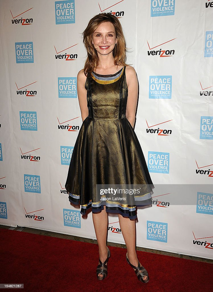 Actress Calista Flockhart attends the 41st annual Peace Over Violence Humanitarian Awards at Beverly Hills Hotel on October 26, 2012 in Beverly Hills, California.