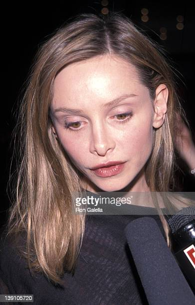 Actress Calista Flockhart attends the 53rd Annual Tony Awards on June 6 1999 at the Gershwin Theatre in New York City