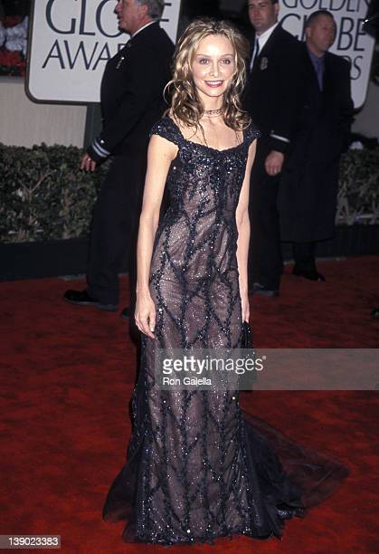 Actress Calista Flockhart attends the 57th Annual Golden Globe Awards on January 23 2000 at Beverly Hilton Hotel in Beverly Hills California