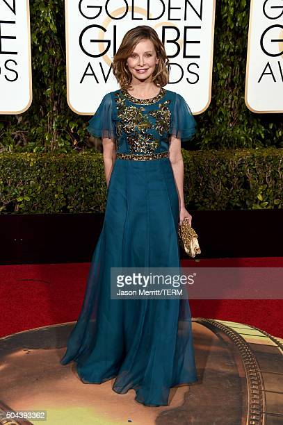 Actress Calista Flockhart attends the 73rd Annual Golden Globe Awards held at the Beverly Hilton Hotel on January 10 2016 in Beverly Hills California