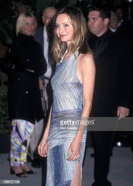 Actress Calista Flockhart attends the Eighth Annual Vanity Fair Oscar Party on March 25 2001 at Morton's Restaurant in West Hollywood California