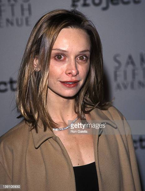 Actress Calista Flockhart attends the First Annual Los Angeles Benefit for Project ALS on February 11 1999 at Raleigh Studios in Hollywood California