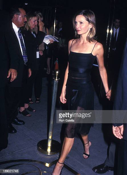 Actress Calista Flockhart attends the 'K19 The Widowmaker' New York City Premiere on July 17 2002 at Ziegfeld Theater in New York City