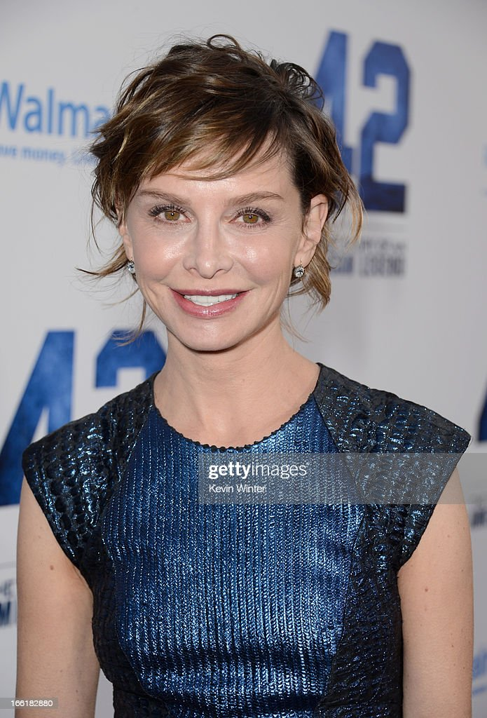Actress Calista Flockhart attends the Los Angeles Premiere of Warner Bros. Pictures' and Legendary Pictures' '42' at TCL Chinese Theatre on April 9, 2013 in Hollywood, California.