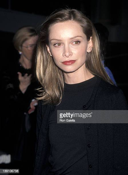 Actress Calista Flockhart attends the Museum of Television and Radio Honors Jerry Seinfeld and David E Kelley on October 4 1998 at the Museum of...