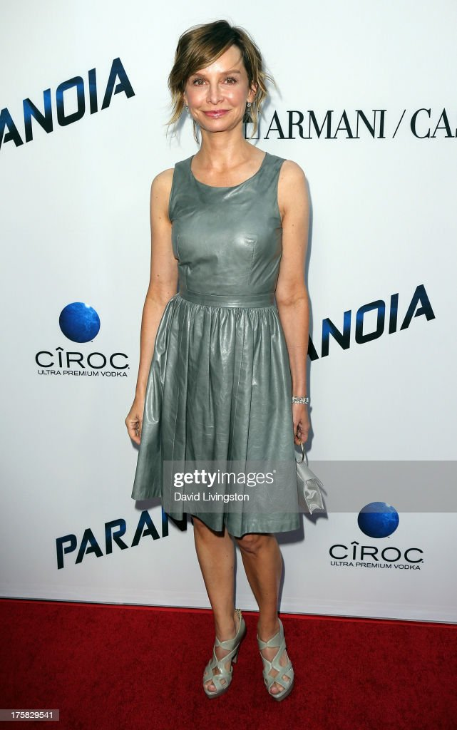 Actress <a gi-track='captionPersonalityLinkClicked' href=/galleries/search?phrase=Calista+Flockhart&family=editorial&specificpeople=204604 ng-click='$event.stopPropagation()'>Calista Flockhart</a> attends the premiere of Relativity Media's 'Paranoia' at the DGA Theater on August 8, 2013 in Los Angeles, California.