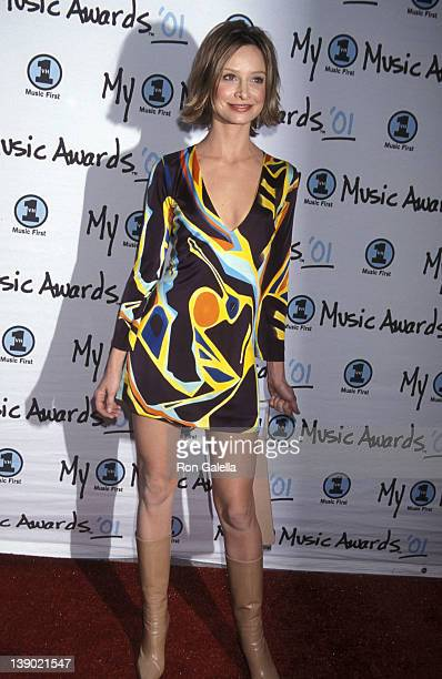 Actress Calista Flockhart attends the Second Annual My VH1 Music Awards on December 2 2001 at Shrine Auditorium in Los Angeles California
