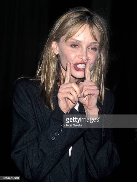 Actress Calista Flockhart attends the Tourette Syndrome Association's Third Annual Awards Dinner Salute to John Lithgow and Susan Conners on February...