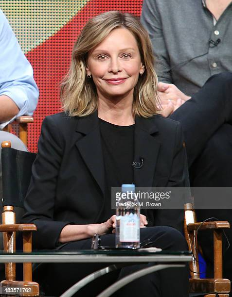 Actress Calista Flockhart speaks onstage during the 'Supergirl' panel discussion at the CBS portion of the 2015 Summer TCA Tour at The Beverly Hilton...