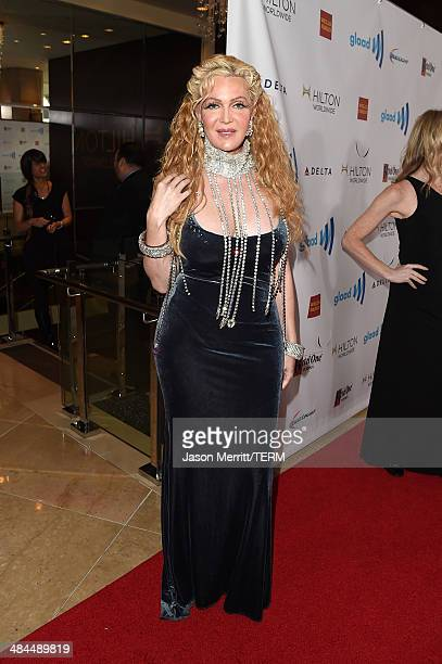 Actress Calpernia Addams attends the 25th Annual GLAAD Media Awards at The Beverly Hilton Hotel on April 12 2014 in Los Angeles California