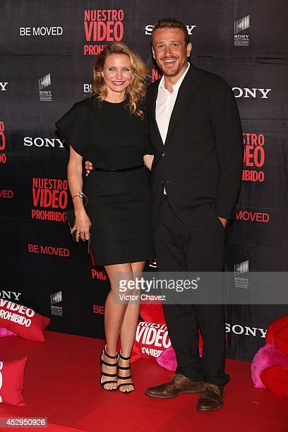 Actress Cameron Diaz and actor Jason Segel attend the 'Sex Tape' Mexico City premiere red carpet at Cinepolis Universidad on July 30 2014 in Mexico...