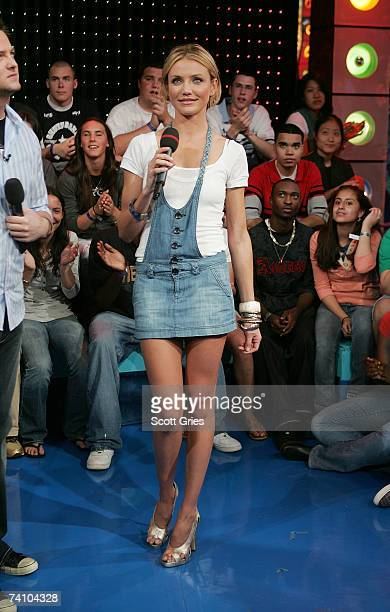 Actress Cameron Diaz appears onstage at MTV's Total Request Live at the MTV Times Square Studios May 8 2007 in New York City