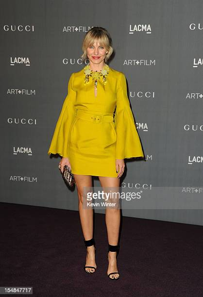 Actress Cameron Diaz arrives at LACMA 2012 Art Film Gala at LACMA on October 27 2012 in Los Angeles California