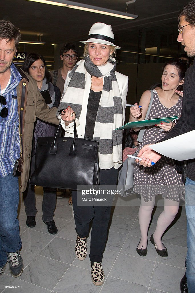 Actress Cameron Diaz arrives at Nice airport during the 66th Annual Cannes Film Festival on May 25 2013 in Nice France