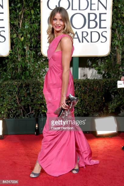 Actress Cameron Diaz arrives at the 66th Annual Golden Globe Awards held at the Beverly Hilton Hotel on January 11 2009 in Beverly Hills California