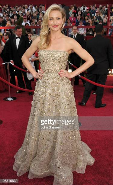 Actress Cameron Diaz arrives at the 82nd Annual Academy Awards held at Kodak Theatre on March 7 2010 in Hollywood California
