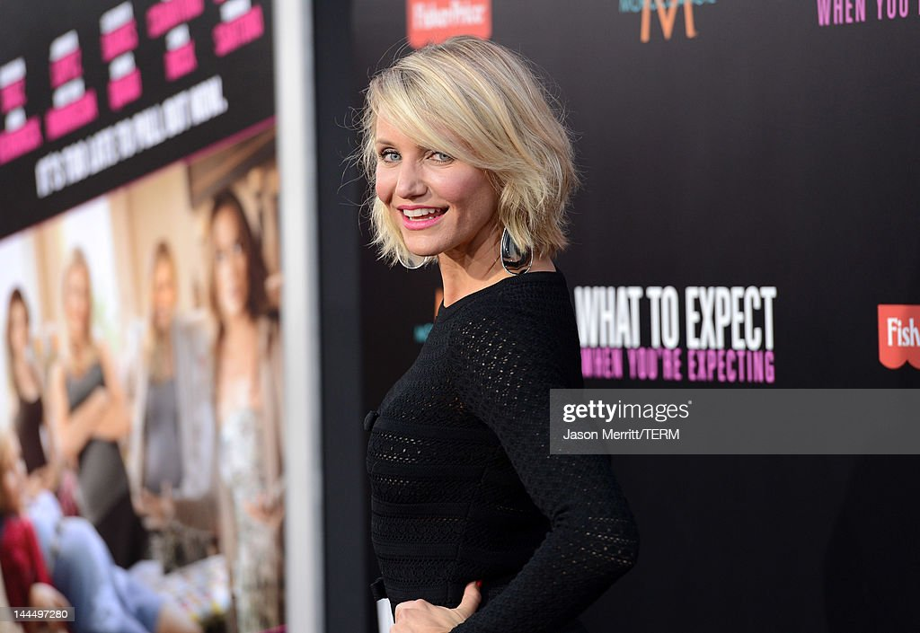 Actress <a gi-track='captionPersonalityLinkClicked' href=/galleries/search?phrase=Cameron+Diaz&family=editorial&specificpeople=201892 ng-click='$event.stopPropagation()'>Cameron Diaz</a> arrives at the premiere of Lionsgate's 'What To Expect When You're Expecting' held at Grauman's Chinese Theatre on May 14, 2012 in Hollywood, California.