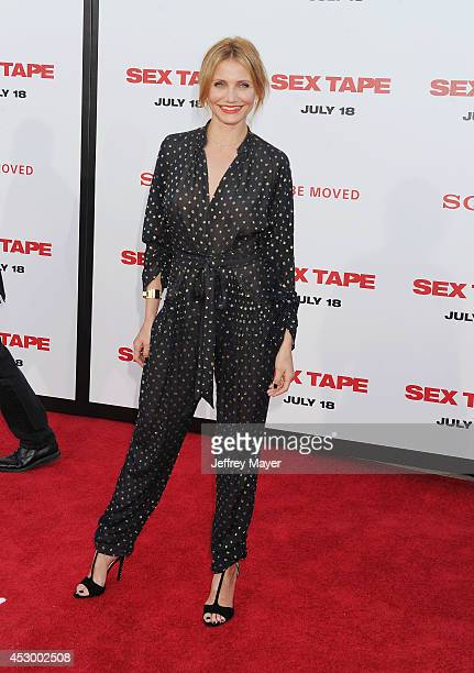 Actress Cameron Diaz arrives at the 'Sex Tape' Los Angeles Premiere at Regency Village Theatre on July 10 2014 in Westwood California