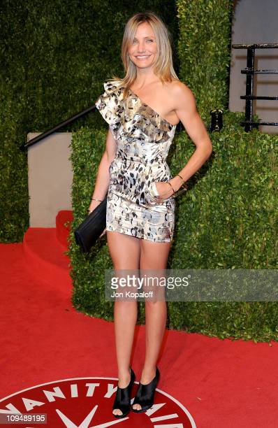 Actress Cameron Diaz arrives at the Vanity Fair Oscar Party at Sunset Tower on February 27 2011 in West Hollywood California