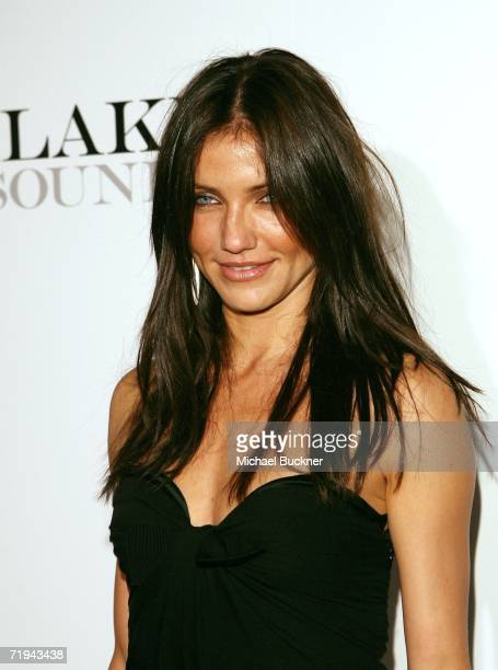 Actress Cameron Diaz arrives his CD release party for the Jive Records 'FUTURESEX/LOVESOUNDS' album at the Miauhaus studios on September 19 2006 in...