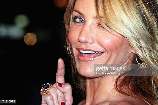Actress Cameron Diaz arrives on the green carpet at the Australian premiere for 'Shrek The Third' the third instalment of the Shrek series of...