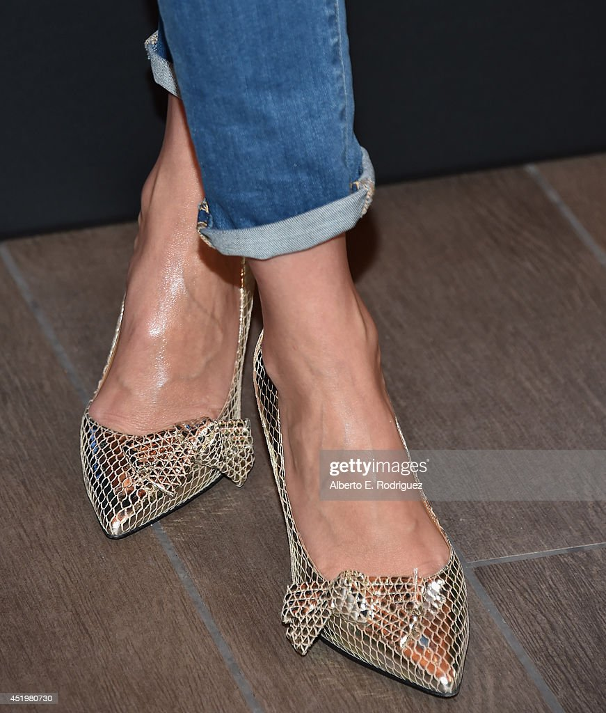 Actress Cameron Diaz (shoe detail) attends a photocall for Columbia Pictures' 'Sex Tape' at The Four Seasons Hotel Los Angeles at Beverly Hills on July 10, 2014 in Beverly Hills, California.
