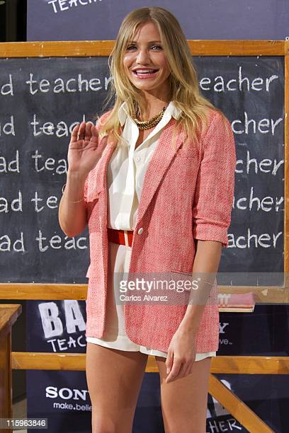 Actress Cameron Diaz attends 'Bad Teacher' Madrid photocall at Hotel Villamagna on June 13 2011 in Madrid Spain