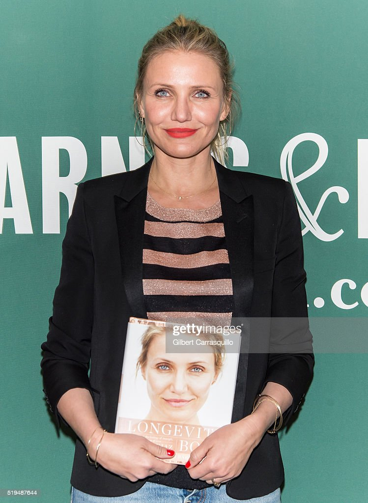 Actress Cameron Diaz attends her book signing for 'The Longevity Book: The Science of Aging, the Biology of Strength, and the Privilege of Time' at Barnes & Noble Union Square on April 6, 2016 in New York City.