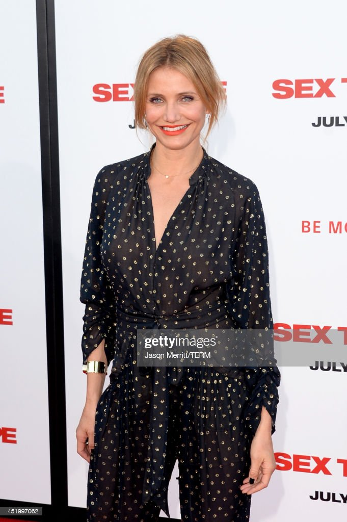 Actress Cameron Diaz attends premiere of Columbia Pictures' 'Sex Tape' at Regency Village Theatre on July 10, 2014 in Westwood, California.