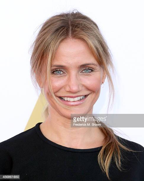 Actress Cameron Diaz attends the Academy Of Motion Picture Arts and Sciences' Hollywood Costume Luncheon at Wilshire May Company Building on October...
