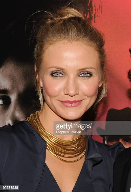 Actress Cameron Diaz attends 'The Box' New York premiere at the AMC Lincoln Square on November 4 2009 in New York City