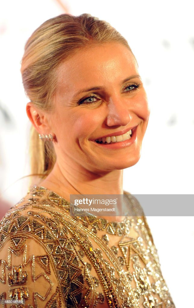 Actress <a gi-track='captionPersonalityLinkClicked' href=/galleries/search?phrase=Cameron+Diaz&family=editorial&specificpeople=201892 ng-click='$event.stopPropagation()'>Cameron Diaz</a> attends the German premiere of the film 'The Other Woman' (German title: Die Schadenfreundinnen) at Mathaeser Filmpalast on April 7, 2014 in Munich, Germany.