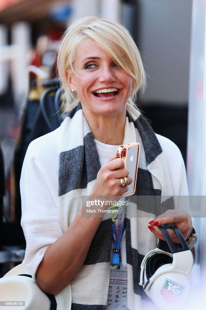 Actress <a gi-track='captionPersonalityLinkClicked' href=/galleries/search?phrase=Cameron+Diaz&family=editorial&specificpeople=201892 ng-click='$event.stopPropagation()'>Cameron Diaz</a> attends the Monaco Formula One Grand Prix at the Circuit de Monaco on May 26, 2013 in Monte-Carlo, Monaco.