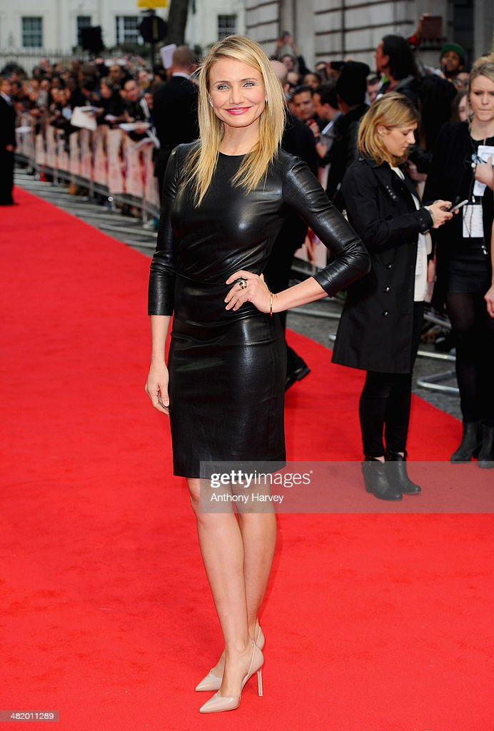 Actress <a gi-track='captionPersonalityLinkClicked' href=/galleries/search?phrase=Cameron+Diaz&family=editorial&specificpeople=201892 ng-click='$event.stopPropagation()'>Cameron Diaz</a> attends 'The Other Woman' UK premiere at the Curzon Mayfair on April 2, 2014 in London, England.