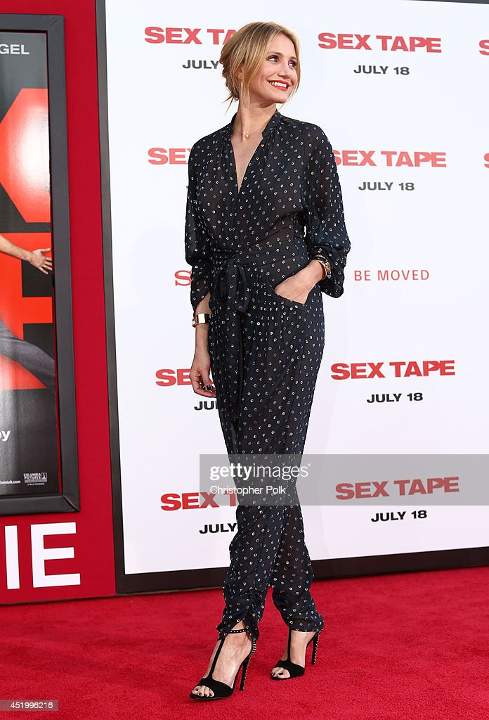 Actress <a gi-track='captionPersonalityLinkClicked' href=/galleries/search?phrase=Cameron+Diaz&family=editorial&specificpeople=201892 ng-click='$event.stopPropagation()'>Cameron Diaz</a> attends the premiere of Columbia Pictures' 'Sex Tape' at Regency Village Theatre on July 10, 2014 in Westwood, California.