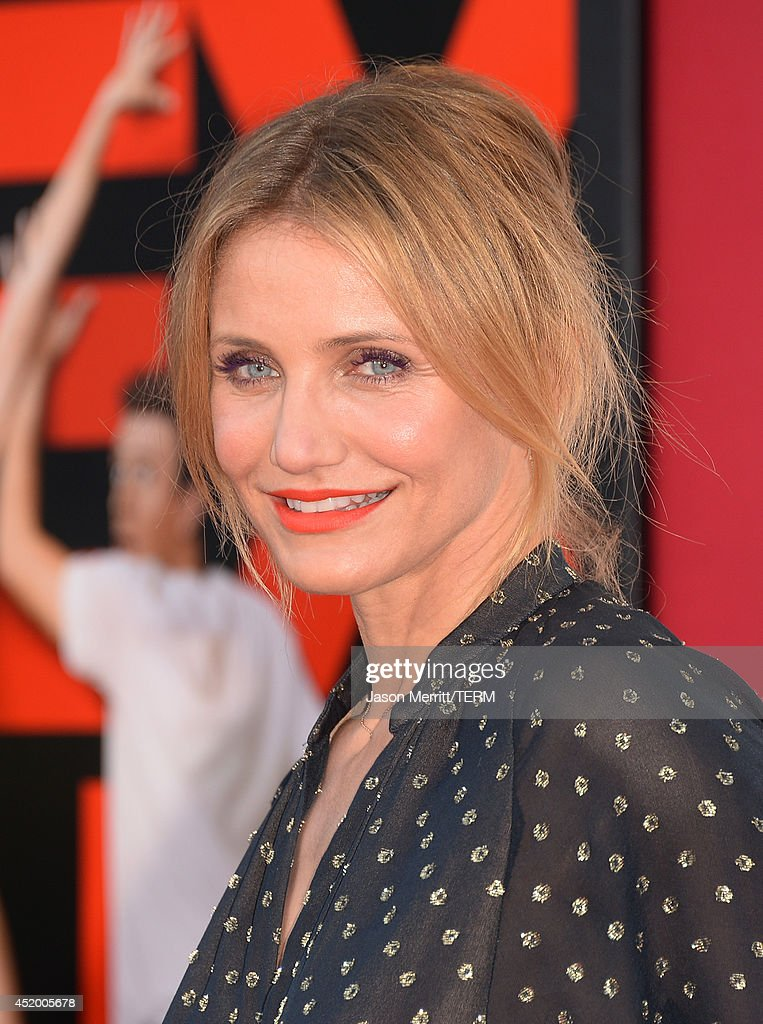 Actress <a gi-track='captionPersonalityLinkClicked' href=/galleries/search?phrase=Cameron+Diaz&family=editorial&specificpeople=201892 ng-click='$event.stopPropagation()'>Cameron Diaz</a> attends the premiere of Columbia Pictures' 'Sex Tape' at Regency Village Theatre on July 10, 2014 in Westwood, California. (Photo by Jason Merritt/Getty Images