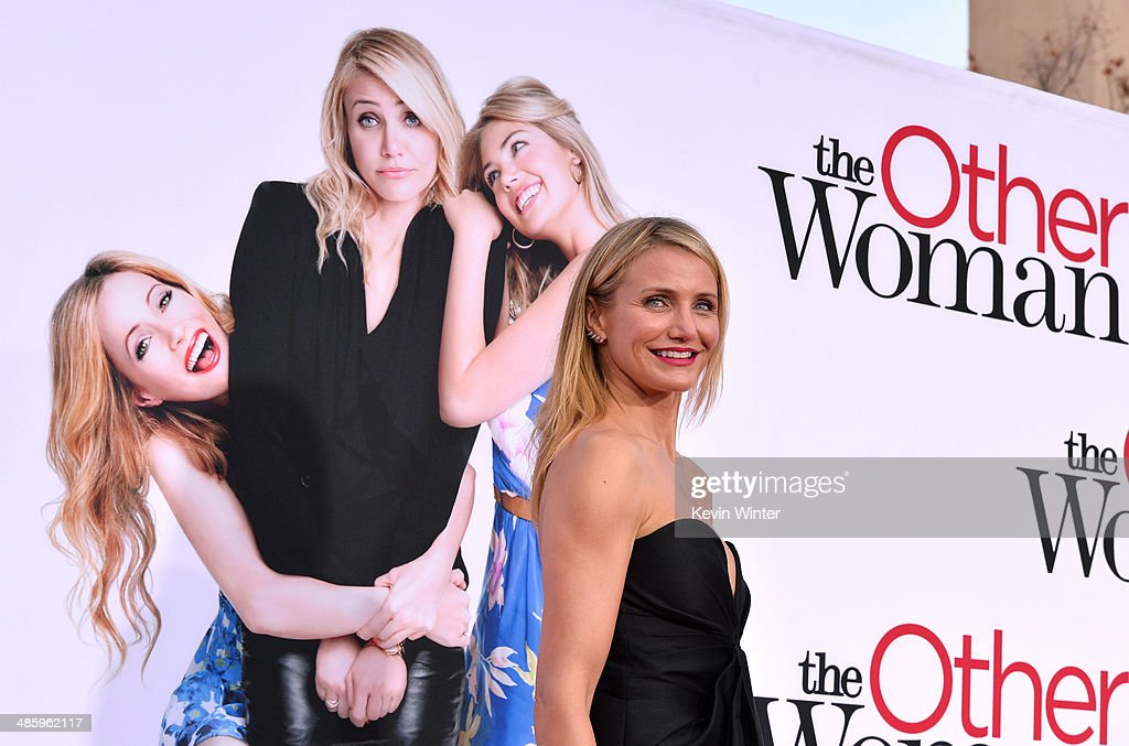 Actress <a gi-track='captionPersonalityLinkClicked' href=/galleries/search?phrase=Cameron+Diaz&family=editorial&specificpeople=201892 ng-click='$event.stopPropagation()'>Cameron Diaz</a> attends the premiere of Twentieth Century Fox's 'The Other Woman' at Regency Village Theatre on April 21, 2014 in Westwood, California.