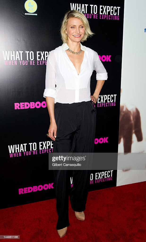 Actress Cameron Diaz attends the 'What To Expect When You're Expecting' premiere at AMC Loews Lincoln Square on May 8 2012 in New York City