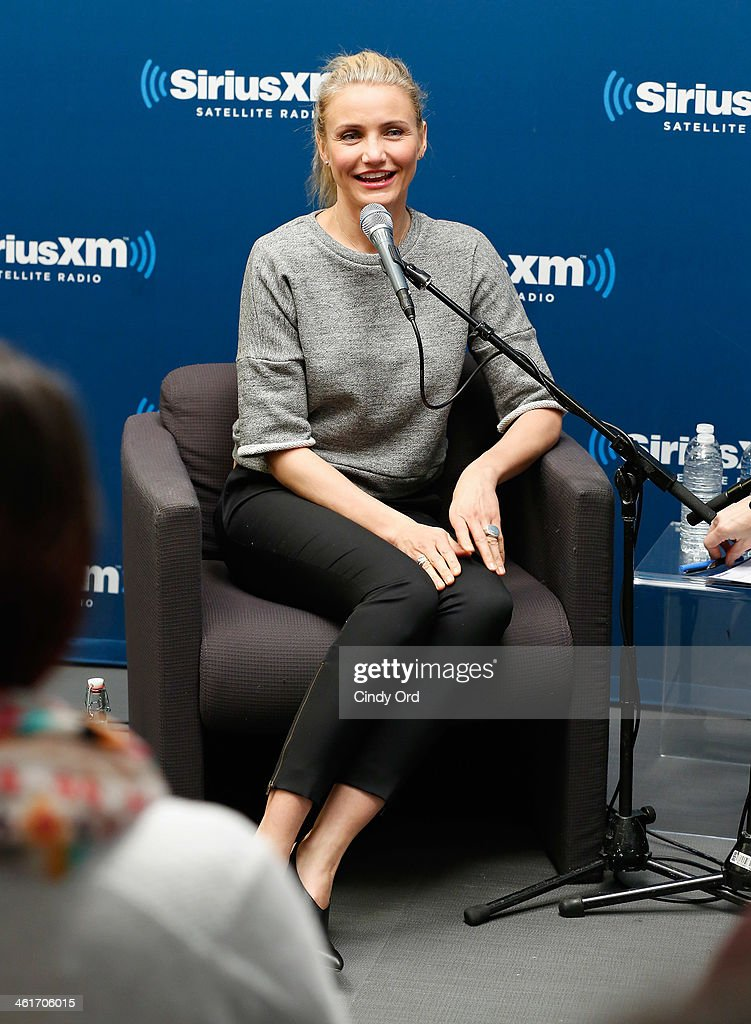 Actress Cameron Diaz is interviewed by EditorinChief of SELF magazine Lucy Danziger as part of SiriusXM's Town Hall series at the SiriusXM Studios on...