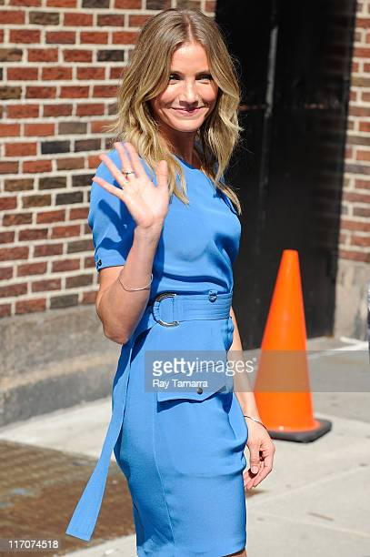 Actress Cameron Diaz leaves the 'Late Show With David Letterman' taping at the Ed Sullivan Theater on June 20 2011 in New York City