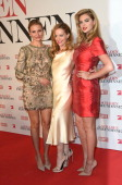 Actress Cameron Diaz Leslie Mann and Kate Upton attend the German premiere of the film 'The Other Woman' at Mathaeser Filmpalast on April 7 2014 in...