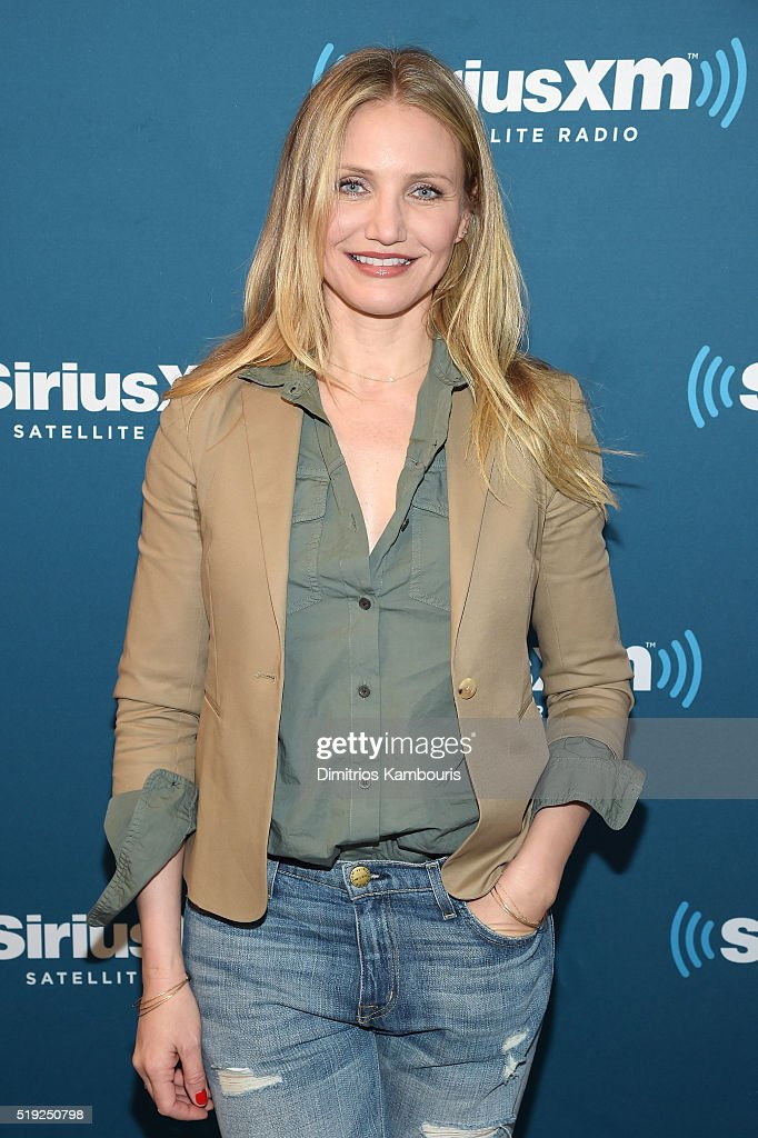 Actress <a gi-track='captionPersonalityLinkClicked' href=/galleries/search?phrase=Cameron+Diaz&family=editorial&specificpeople=201892 ng-click='$event.stopPropagation()'>Cameron Diaz</a> poses at SiriusXM's Town Hall after her appearance on Andy Cohen's exclusive SiriusXM channel Radio Andy on April 5, 2016 in New York City.